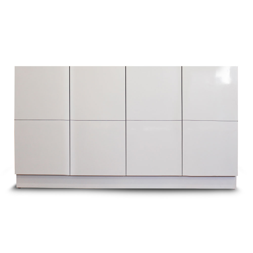 Grid Shoe Cabinet - White Small